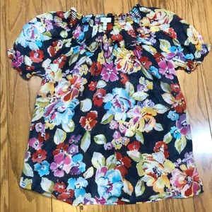 Joie floral semi-sheer blouse